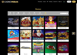 Casino Midas Casino Lobby Screenshot