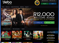Yebo Casino Main Screenshot