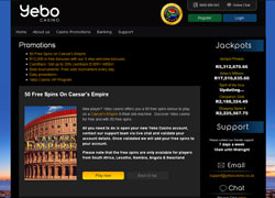 Yebo Casino Promotions Screenshot