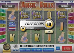 Aussie Rules Free Spins Screenshot
