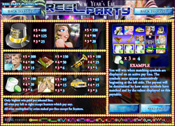 Reel Party Platinum Paytable Screenshot