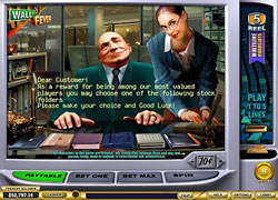 Wall Street Fever Bonus Game Screenshot